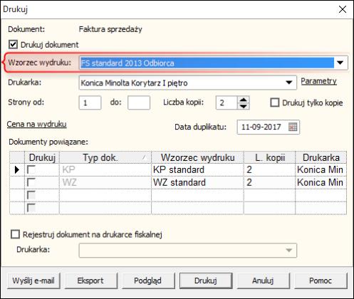 Jak Wydrukować Fakturę Z Dodatkową Sekcją Odbiorca Subiekt Gt